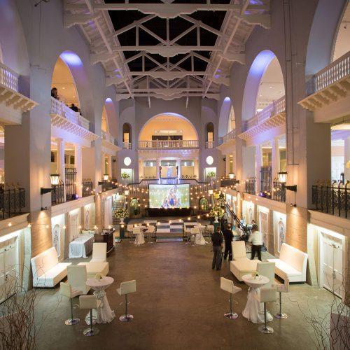 Wedding reception decor in St. Augustine