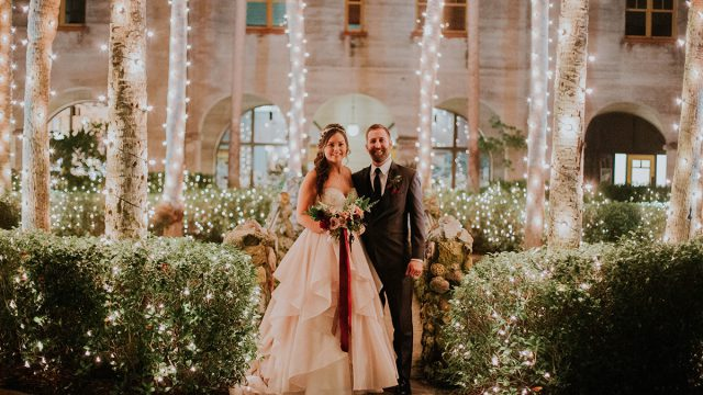 Wedding in the courtyard of the Lightner Museum