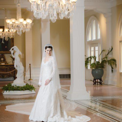 Bride in the Lobby of the Lightner Museum