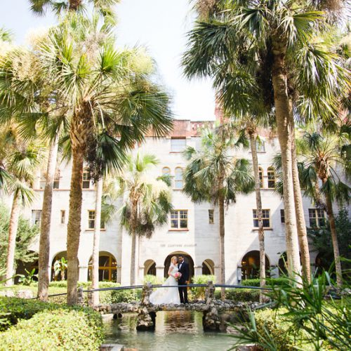 Courtyard wedding at the Lightner Museum in St. Augustine