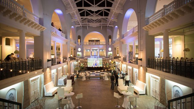 Wedding Reception in Historic Pool and Mezzanine