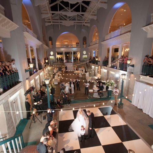 Wedding reception at the Lightner Museum