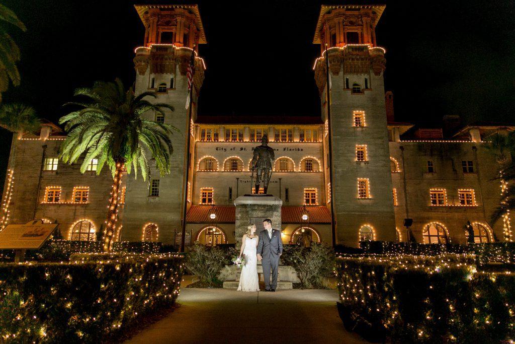 Nights of Lights wedding in St. Augustine at the Lightner Museum