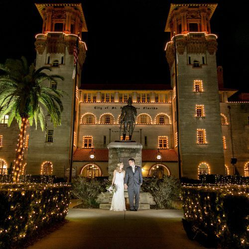 Wedding during Nights of Lights in St. Augustine