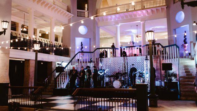 Wedding band at the Lightner Museum