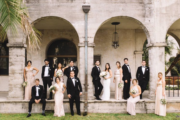 wedding party photos at the Lightner Museum