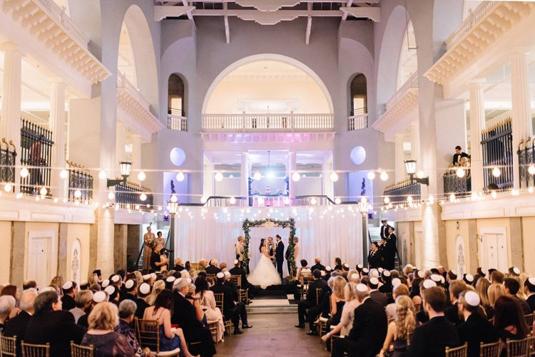 Wedding ceremony and reception at the Lightner Museum