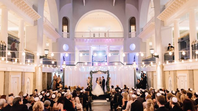 Jewish Wedding Ceremony at The Lightner Museum
