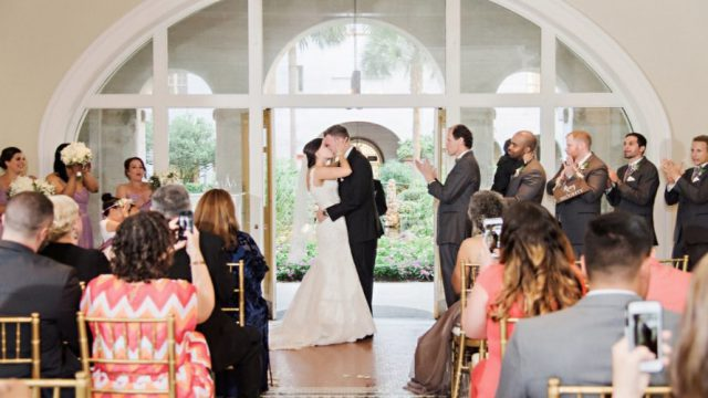 St. Augustine wedding in the Lightner Lobby