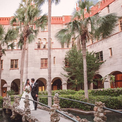St Augustine Wedding Venue | Lightner Museum Courtyard