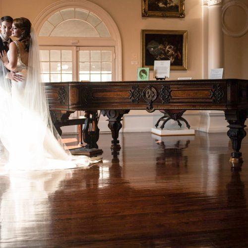 Wedding ceremony in the Grand Lobby of the Lightner Museum