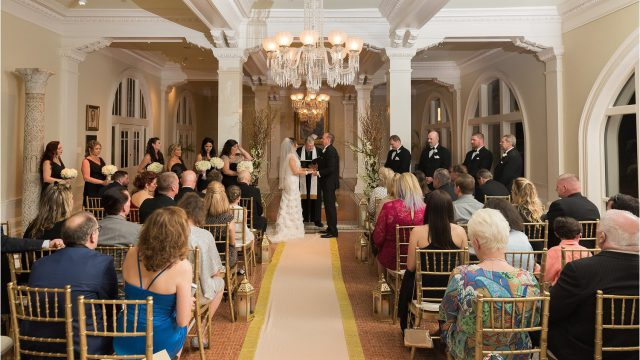 Wedding Ceremony in the Lightner Museum Grand Lobby
