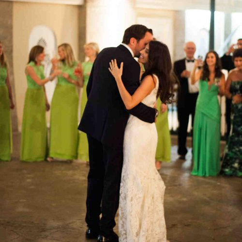 First dance during wedding reception at the Lightner Museum