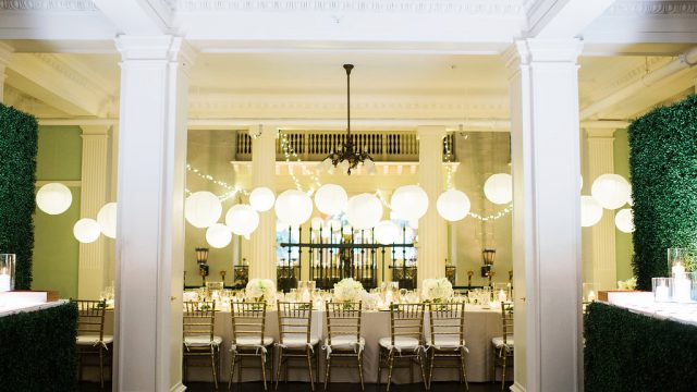 St. Augustine Modern Wedding Reception