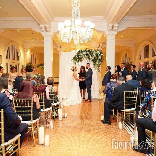 Wedding Ceremony in Lightner Museum Grand Lobby | St. Augustine, FL