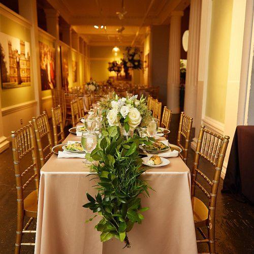 Lightner Museum Wedding Reception Decor | St. Augustine Wedding Venue