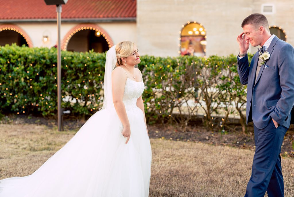 First Look   Kayla & Jonathan's Winter Wedding in St. Augustine
