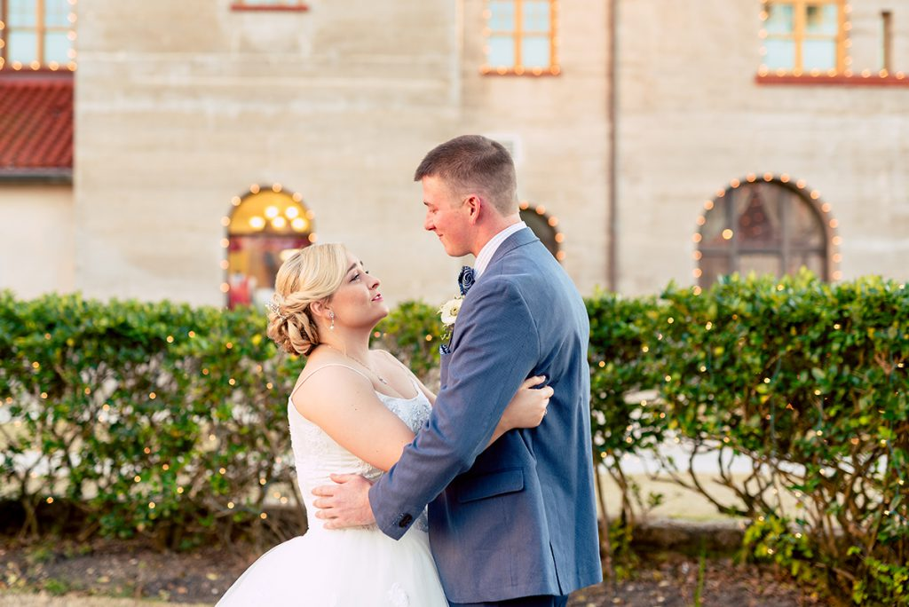 First Look | Kayla & Jonathan's Winter Wedding in St. Augustine