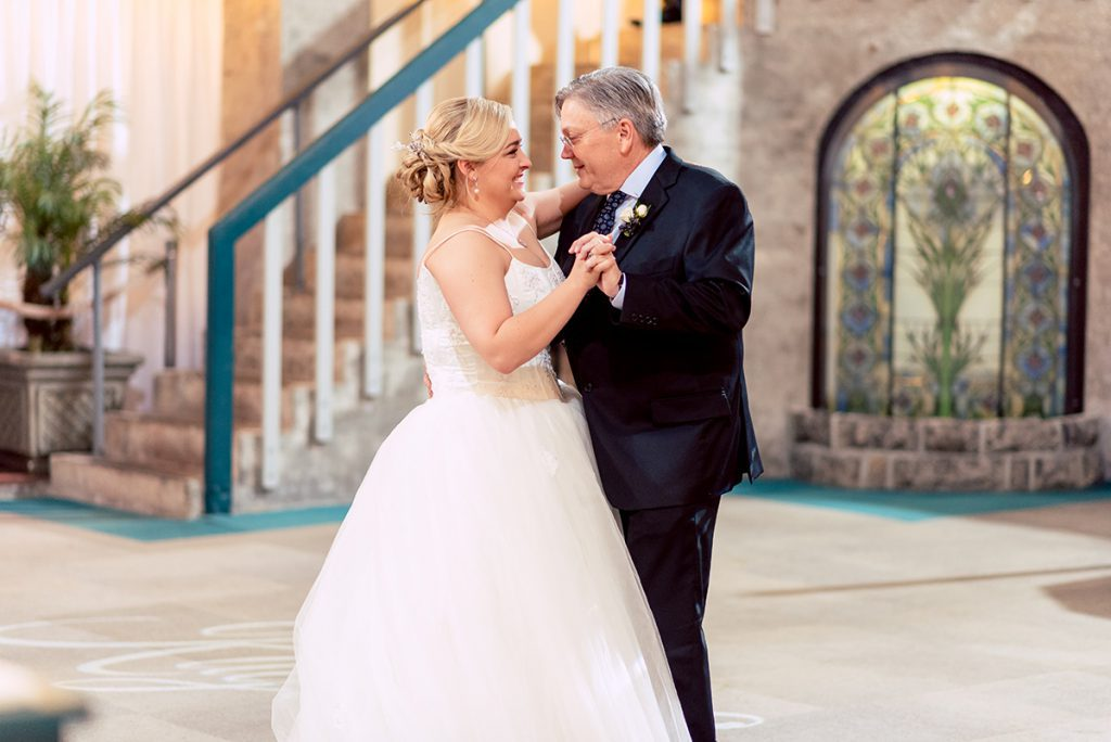 Father-Daughter Dance | Kayla & Jonathan's Winter Wedding in St. Augustine