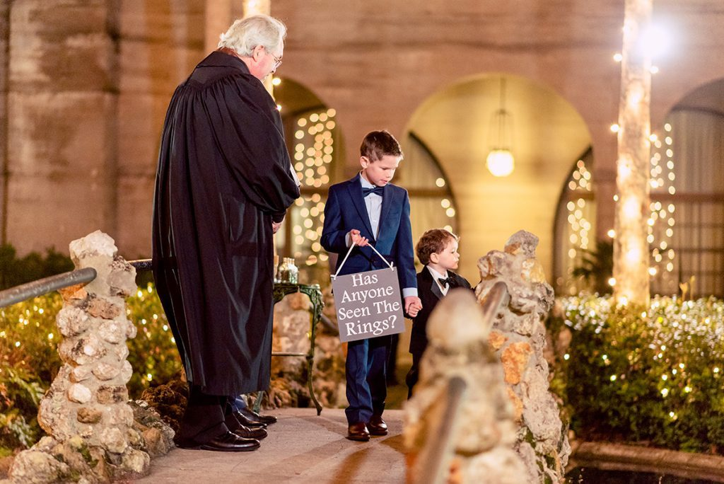 Ring Bearers | Kayla & Jonathan's Winter Wedding in St. Augustine
