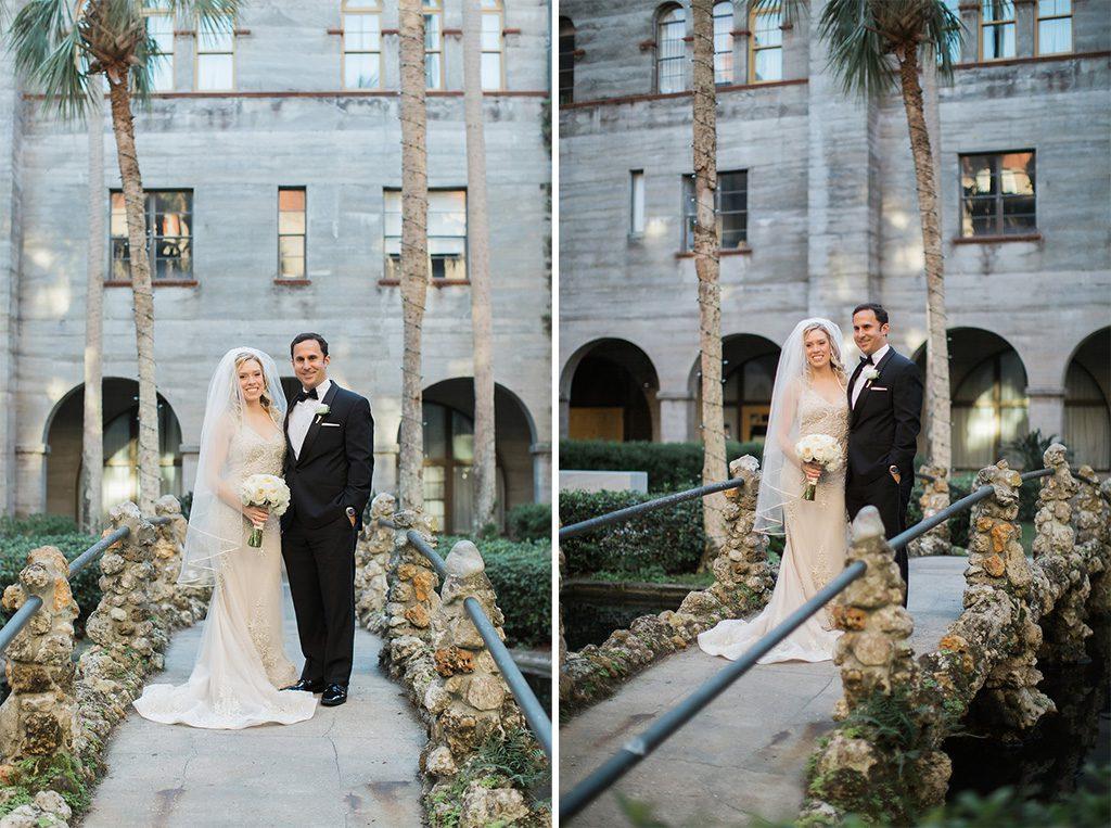 Lightner Museum Courtyard | Vintage Modern Wedding in St. Augustine Florida