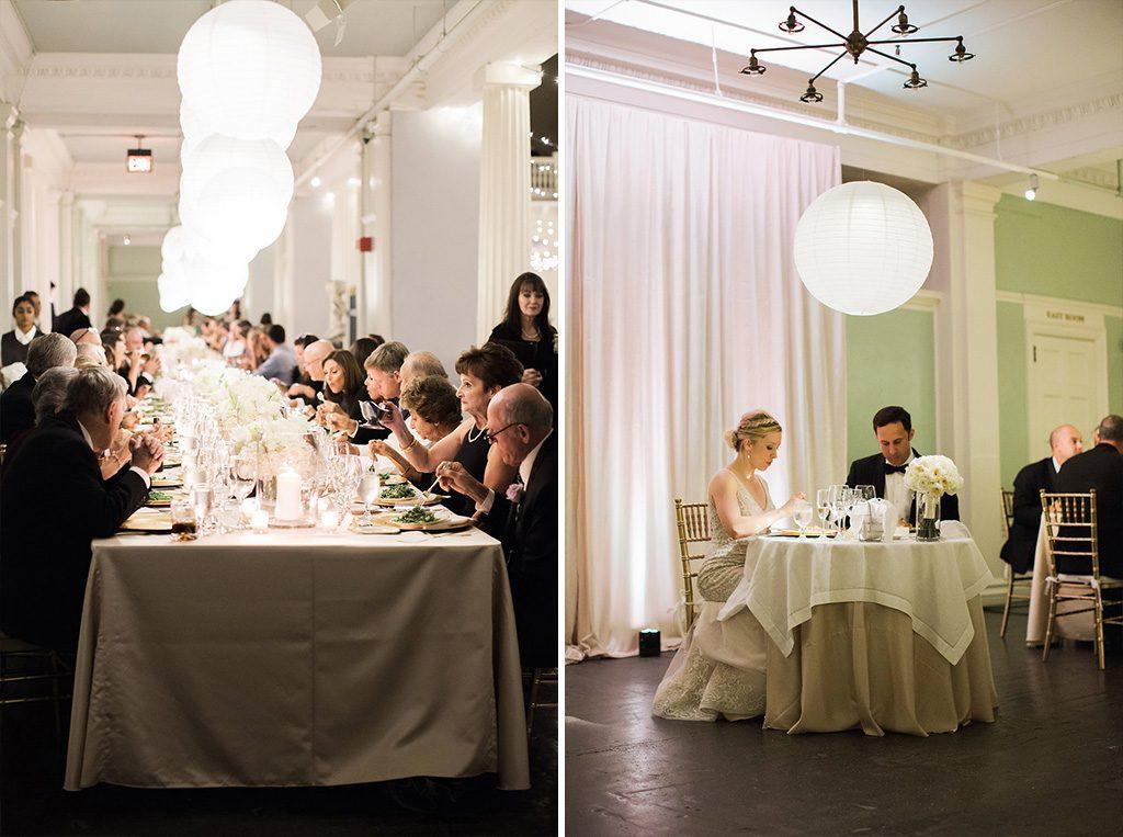 Wedding Dinner | Lightner Museum Wedding Reception | Vintage Modern Wedding in St. Augustine Florida