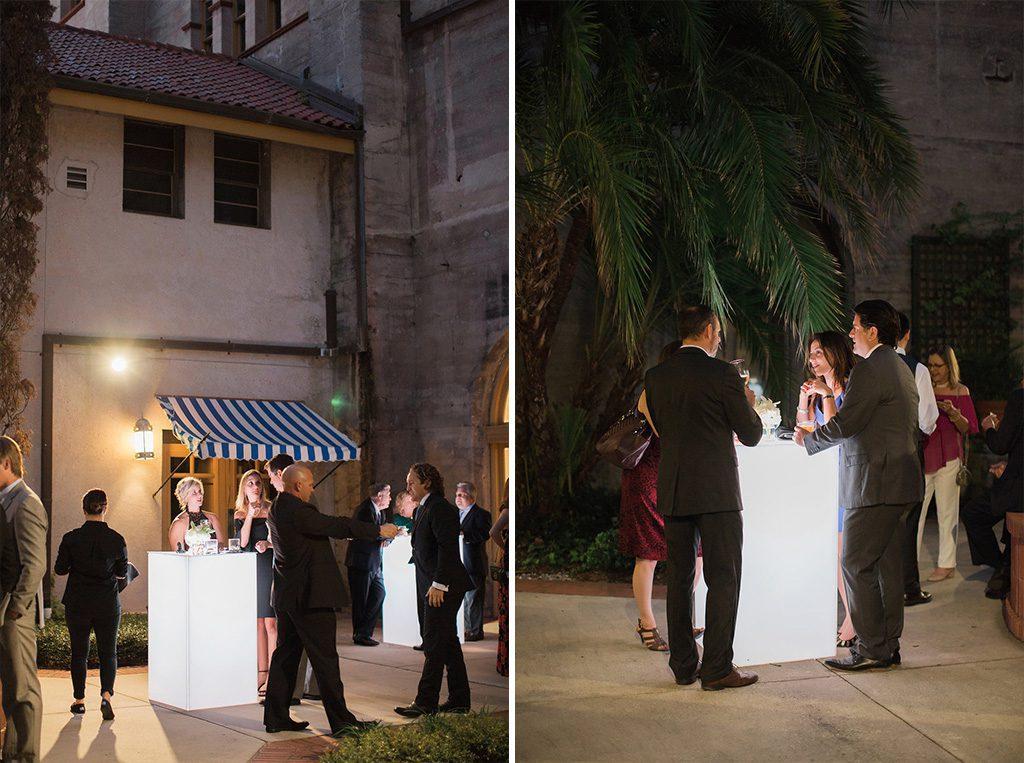 Lightner Museum Cocktail Hour | Vintage Modern Wedding in St. Augustine Florida