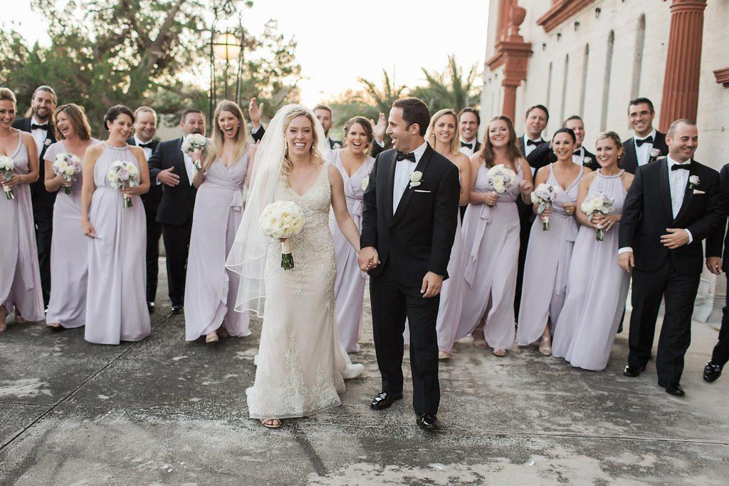 Lightner Museum Outdoor Terrace | Vintage Modern Wedding in St. Augustine Florida