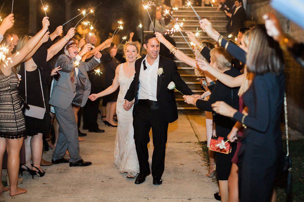 Grand Exit | Lightner Museum Wedding Reception | Vintage Modern Wedding in St. Augustine Florida