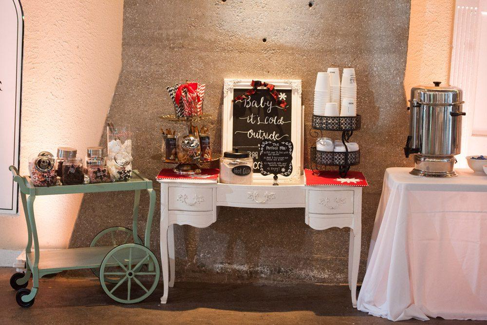 Hot Cocoa Station | Lightner Museum Wedding | St. Augustine, Florida