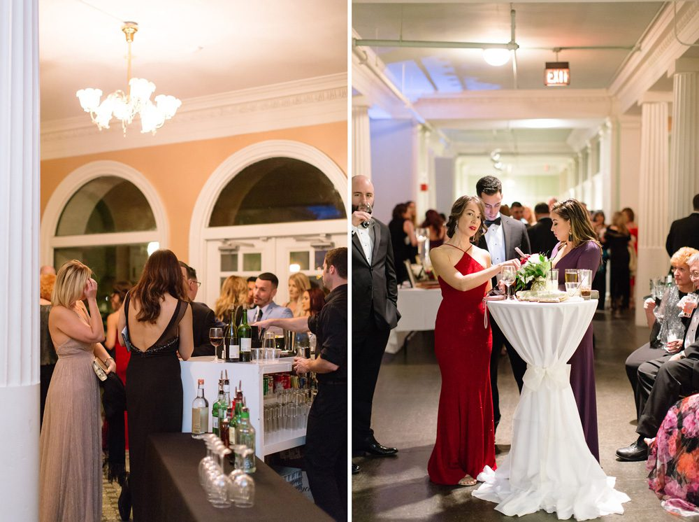 Cocktail Hour on the Mezzanine of the Historic Pool | 5 REASONS THE LIGHTNER MUSEUM IS ONE OF THE MOST UNIQUE WEDDING VENUES IN ST. AUGUSTINE