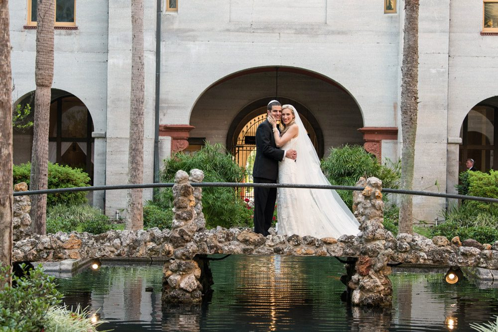 St. Augustine Bride and Groom at the Lightner Museum | Kristen and Mike | A Love Story Written in the Stars