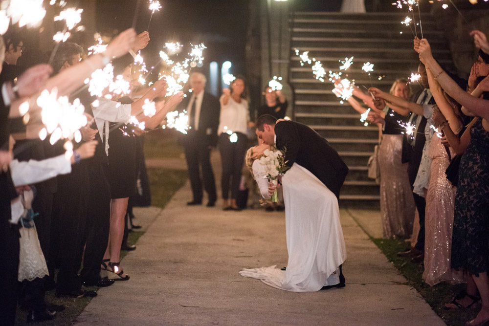 Grand exit at the Lightner Museum | Kristen and Mike | A Love Story Written in the Stars