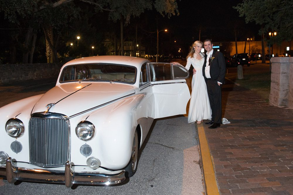 Wedding getaway car at the Lightner Museum | Kristen and Mike | A Love Story Written in the Stars