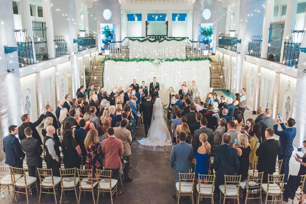 Wedding Ceremony in St. Augustine at Lightner Museum | How to Best Utilize the Venue Spaces at the Lightner Museum For Your Wedding