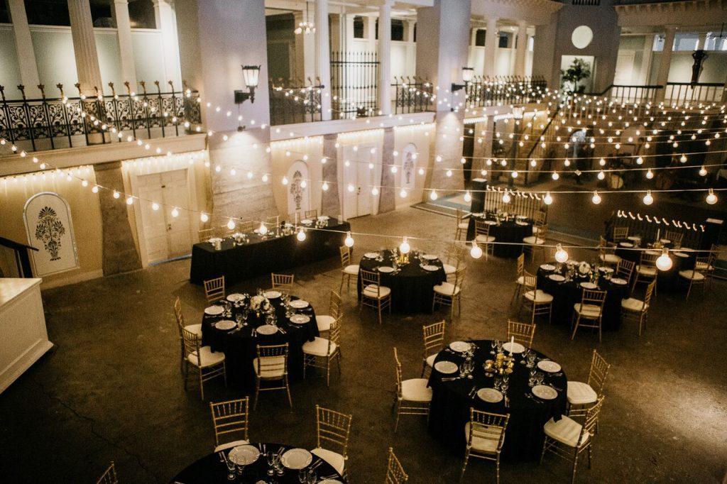 Lightner Museum Pool Wedding Dinner