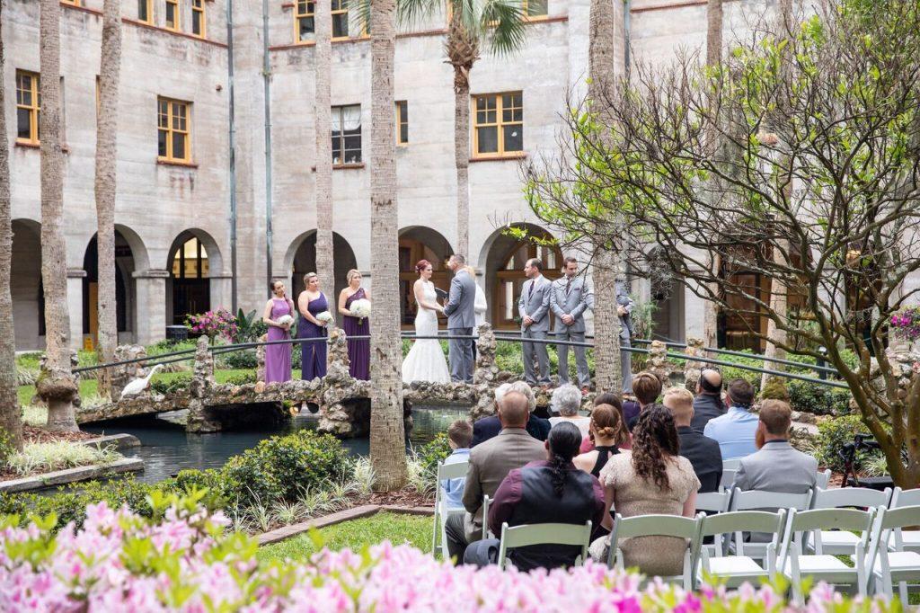 Courtyard Wedding Ceremony St. Augustine