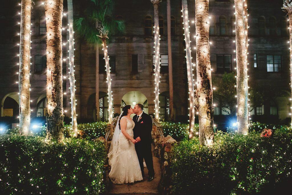 Courtyard bridal photos Nights of Lights