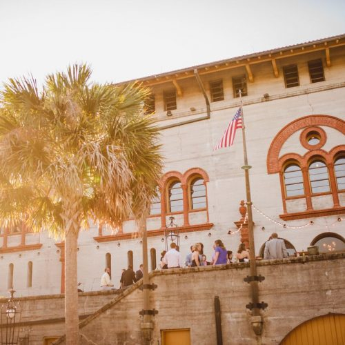 Outdoor Cocktail Hour at Lightner Museum St Augustine
