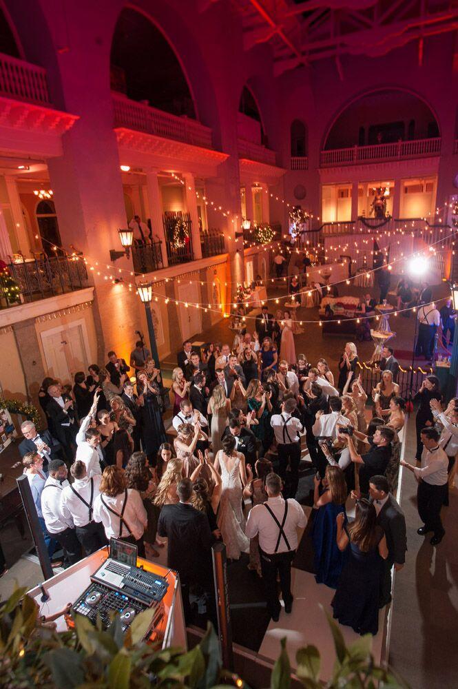 Lightner Museum Wedding Party in Pool