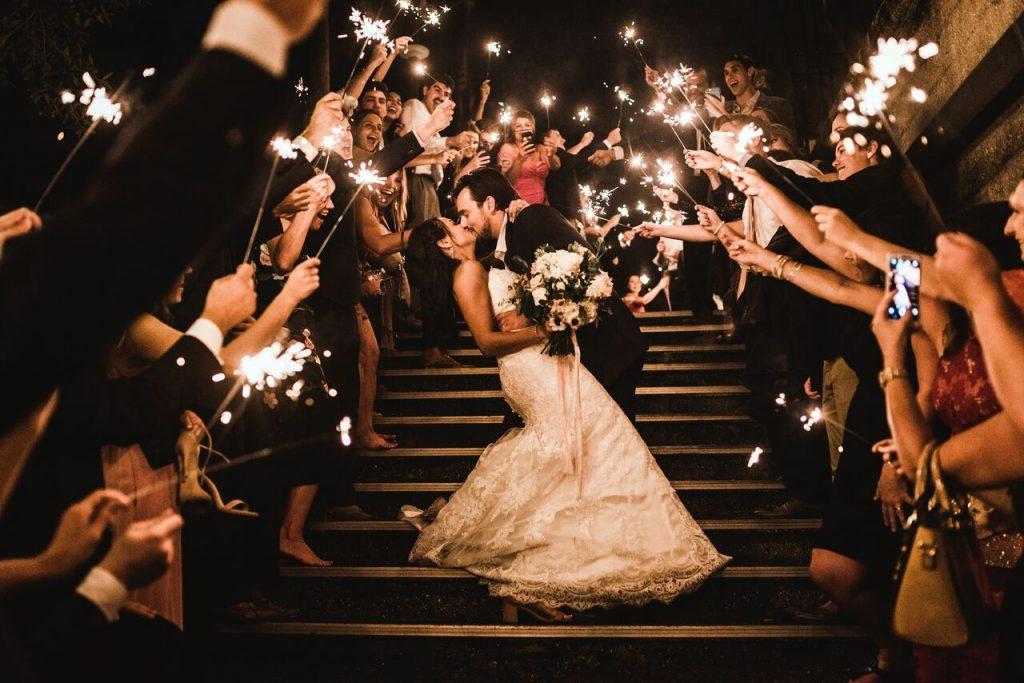 Wedding Sparkler Exit at Lightner Museum