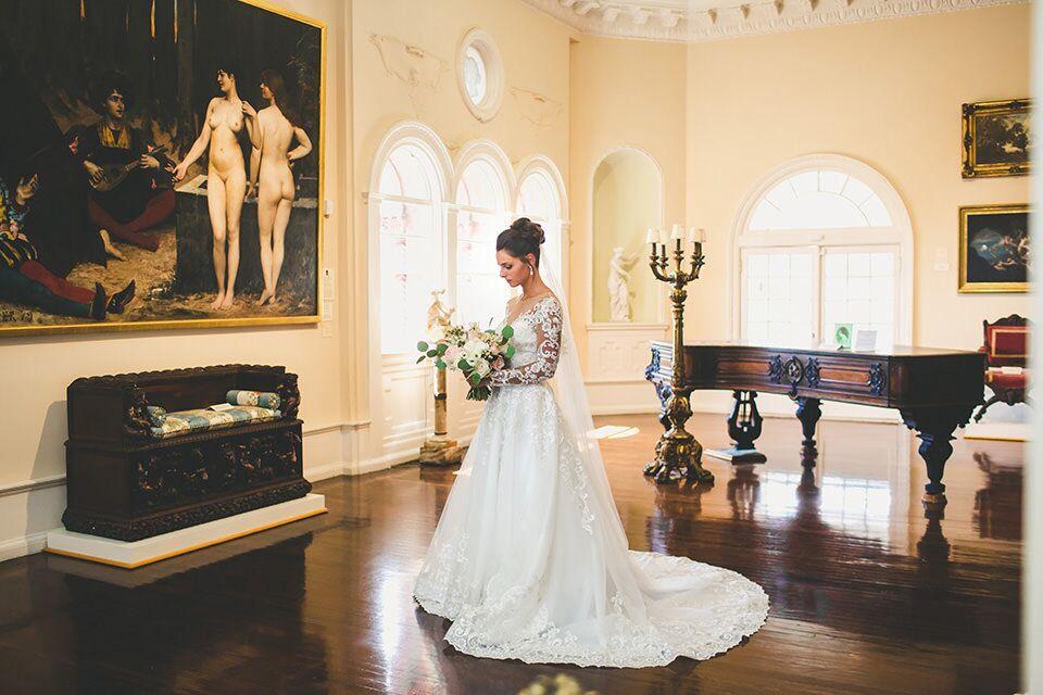 Bridal Portaits St Augustine in Lightner Museum ballroom