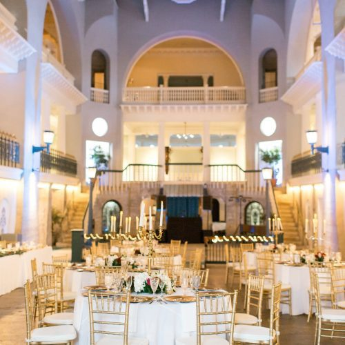Wedding reception at the Lightner Museum St. Augustine