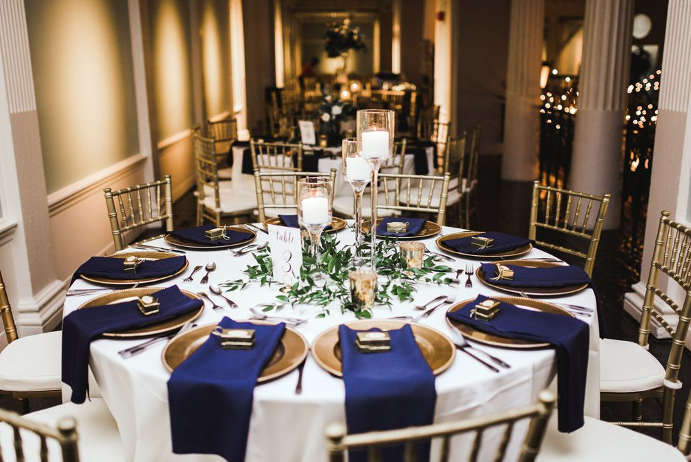 Wedding Reception Decor | Brooke + Blake | A Magical St. Augustine Wedding at the Lightner Museum