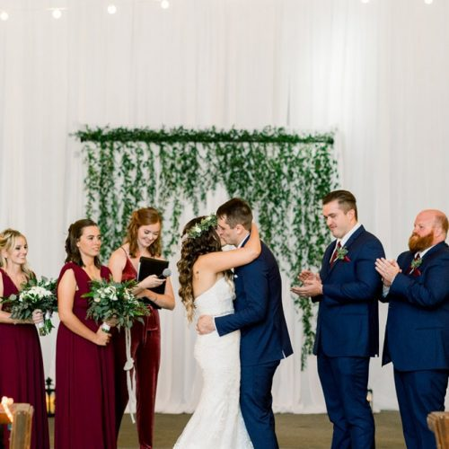 First Kiss | Wedding Ceremony at the Lightner Museum St. Augustine