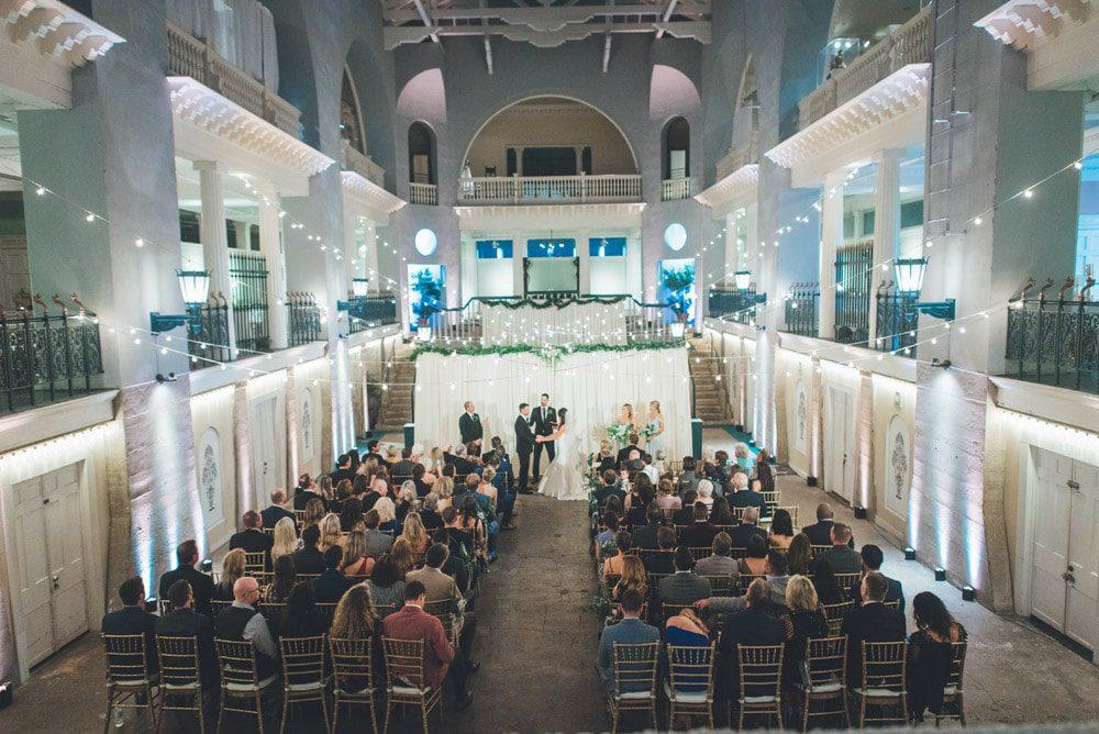 Historic Pool Wedding Ceremony at the Lightner Museum