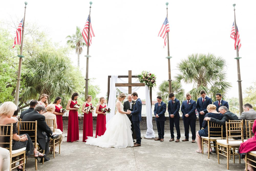 Wedding Ceremony on the Outdoor Terrace of the Lightner Museum