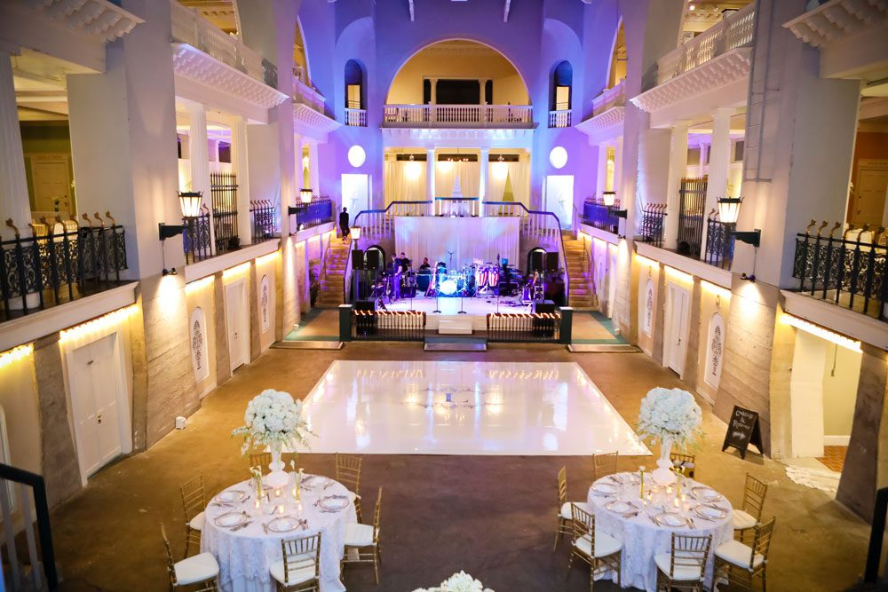 Wedding Reception in Lightner Museum Historic Pool