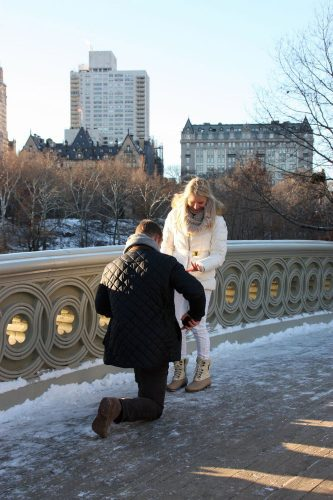 New York City Wedding Proposal in Central Park