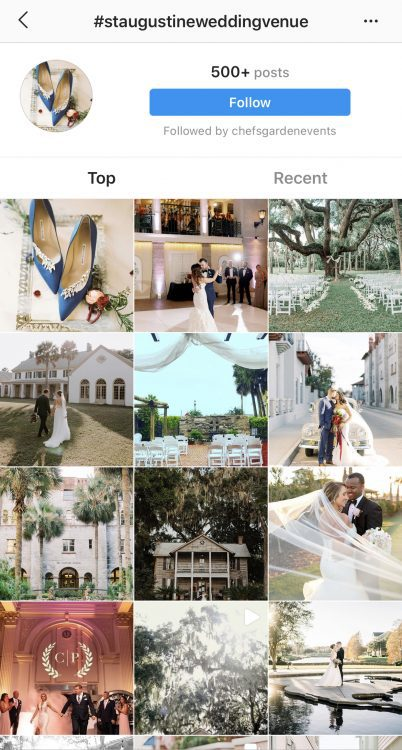 Instagram Hashtag Search #staugustineweddingvenue